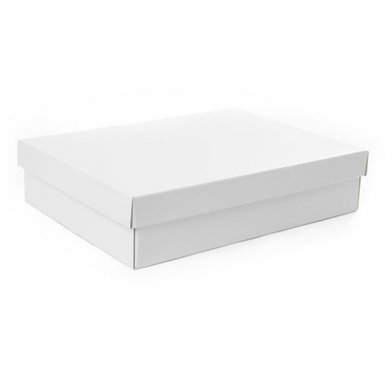 Gourmet Box Rectangle Large White (40x30x9cmH)