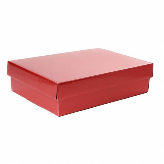 Cardboard Gourmet Box - Gourmet Box Rectangle Small Red (33x23x9cmH)