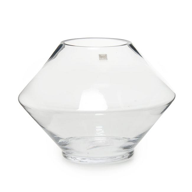 Cosmo Glass Vase Clear (24.5cmDx18cmH)