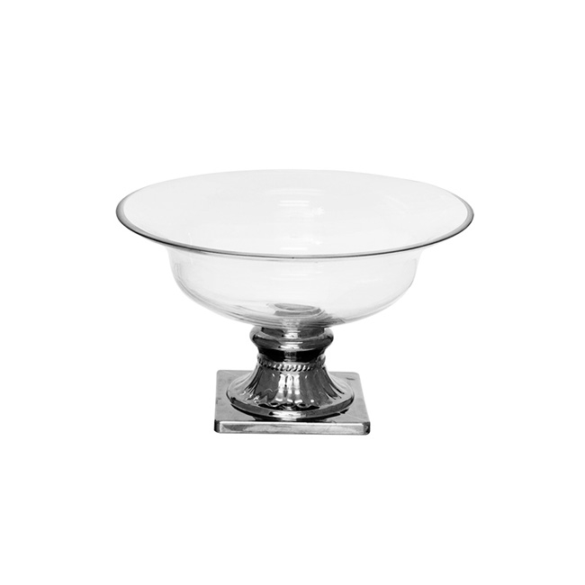 Glass GRANDE Float Urn Wide Opening Footed 30x17.5cmH Clear