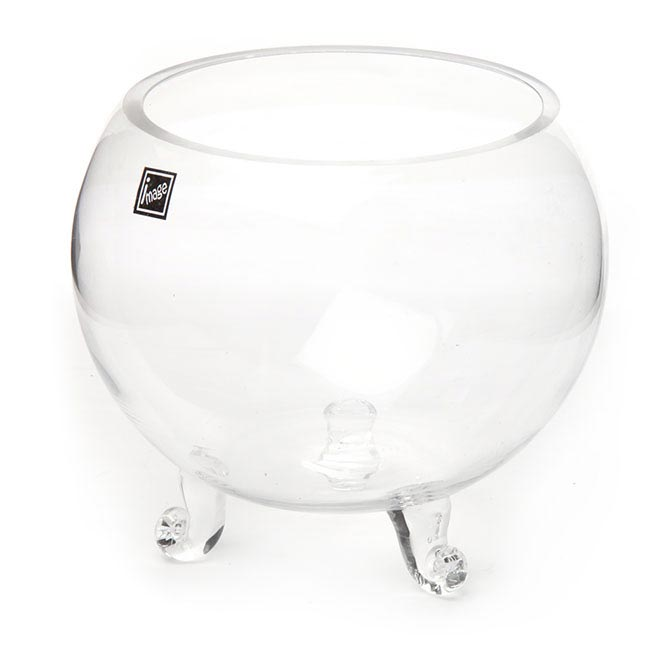 Fish Bowl Vases - Glass Fish Bowl with foot Clear (12TDx16Dx17cmH)