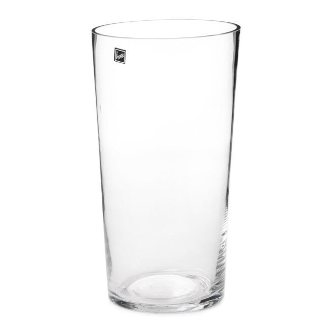 Glass Conical Floral Vase Clear 14dx30cmh