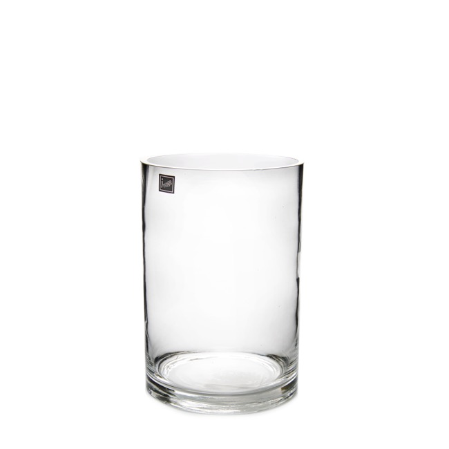 Glass Cylinder Vase 15Dx20cmH Clear
