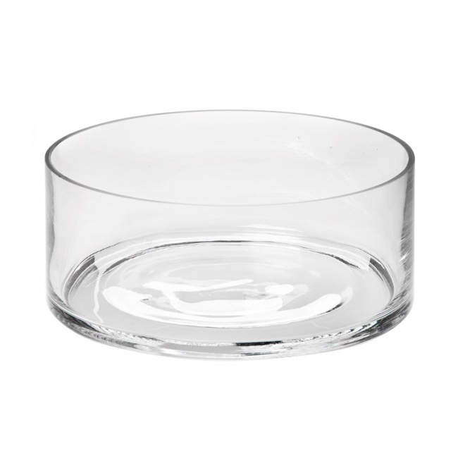 Glass Float Bowl Round 25x9cmH Clear