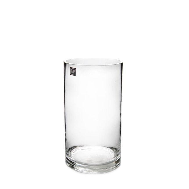 Cylinder & Conical Vases - Glass Cylinder Vase 12Dx25cmH Clear