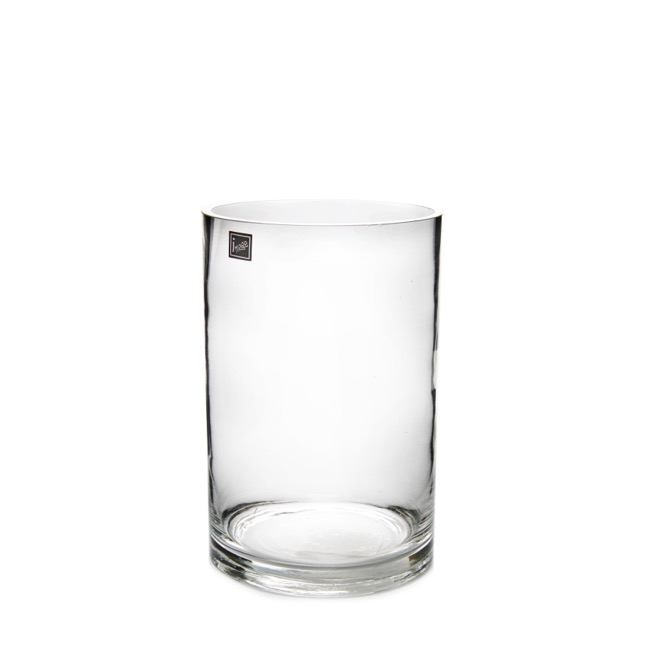 Glass Cylinder Vase 15Dx25cmH Clear