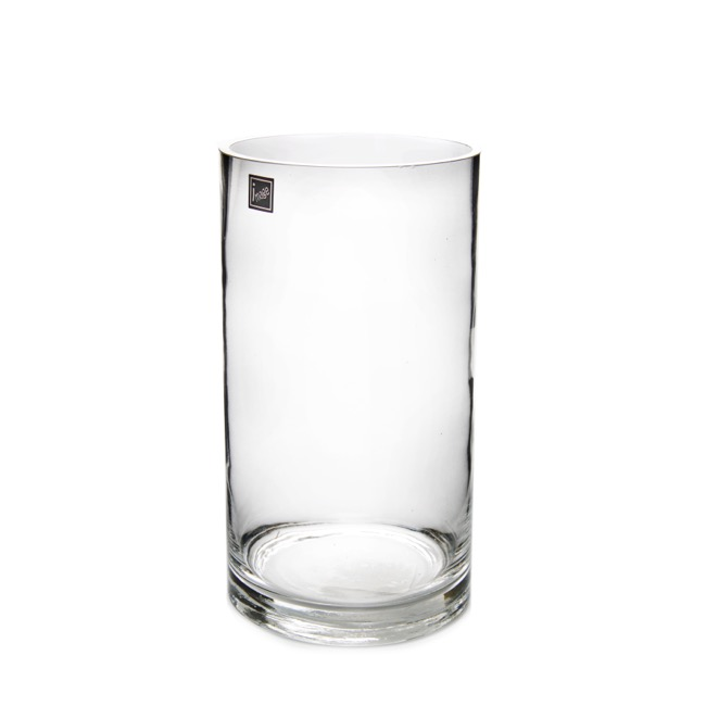 Glass Cylinder Vase 15dx30cmh Clear