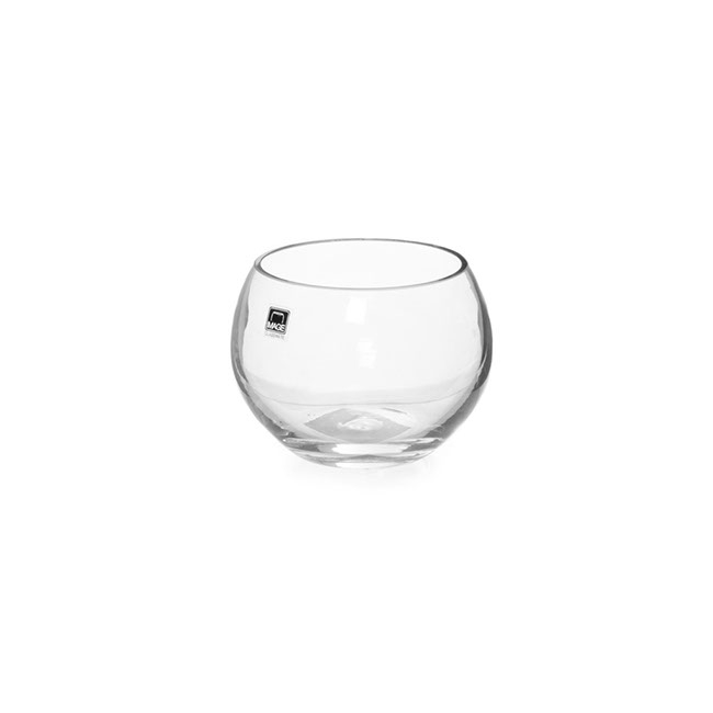 Fish Bowl Vases - Glass Fish Bowl 10cm Clear (8TDx12Dx9cmH)