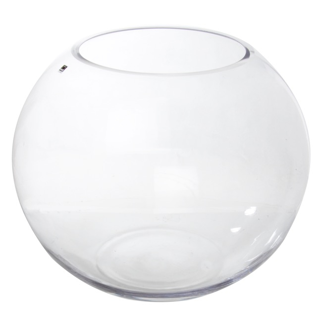 glass large fish bowl 45cm clear 23tdx44cmdx40cmh