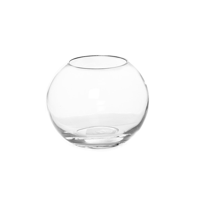 Fish Bowl Vases - Glass Promo Fish Bowl 15cm Clear (10TDx15Dx12cmH)