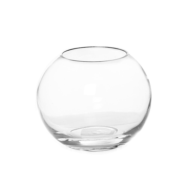Fish Bowl Vases - Glass Promo Fish Bowl 18cm Clear (12TDx18Dx14cmH)