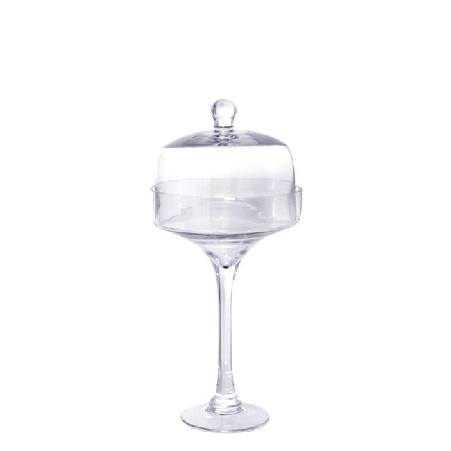 Candy Apothecary Jars - Glass Cake Stand 17.5Dx39cmH Clear