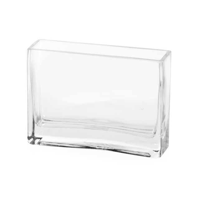 Glass Square Vases - Glass Rectangle Vase Clear (6x18x12cmH)