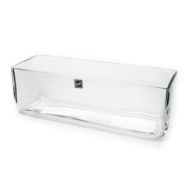 Glass Square Vases - Glass Rectangle Vase Clear (30x10x10cmH)