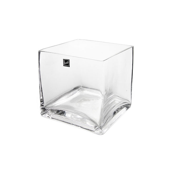 Glass Cube Vase Clear (15x15x15cmH)