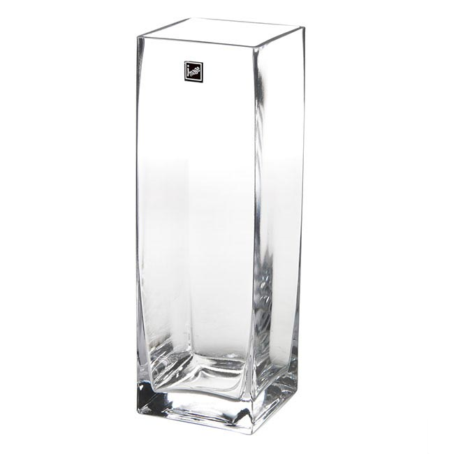 Glass Square Tank Vase 10x10x30cm Clear