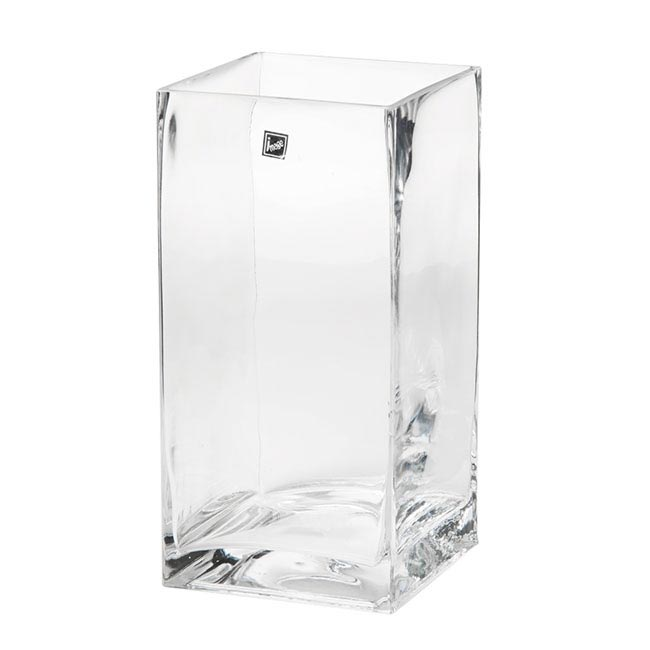 Glass Square Tank Vase Clear (15x15x30cmH)