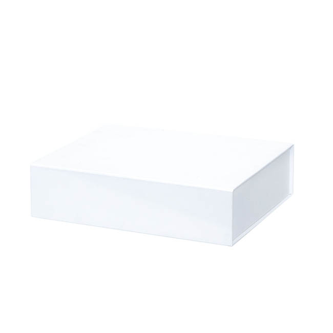 Cardboard Gourmet Box - Gourmet Box Magnetic Flap Large White (38x26x9.5cmH)