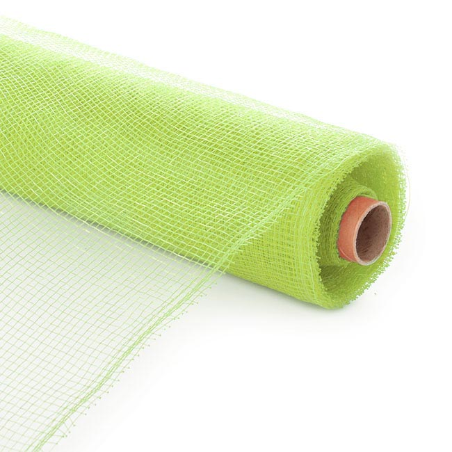 Plain Mesh Wrap - Plastic Mesh Roll Apple Green (55cmx9m)