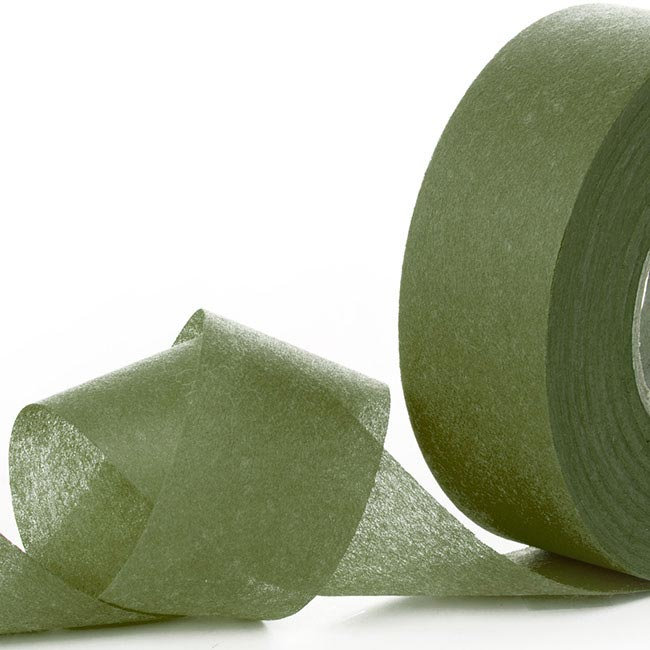 Nonwoven Floral Decor Ribbon - Nonwoven Ribbon Nova Moss Green (4cmx40m)
