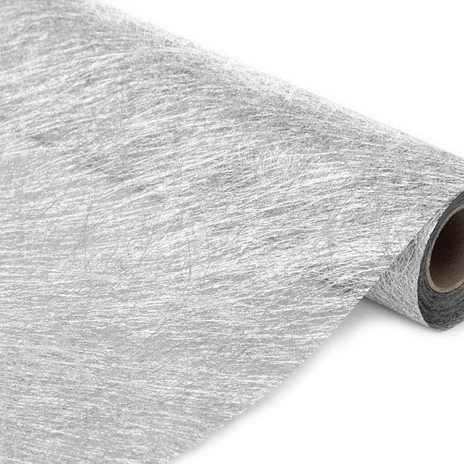 Spider Nonwoven Wrapping - Nonwoven Spider Roll Metallic Silver (60cmx10m)