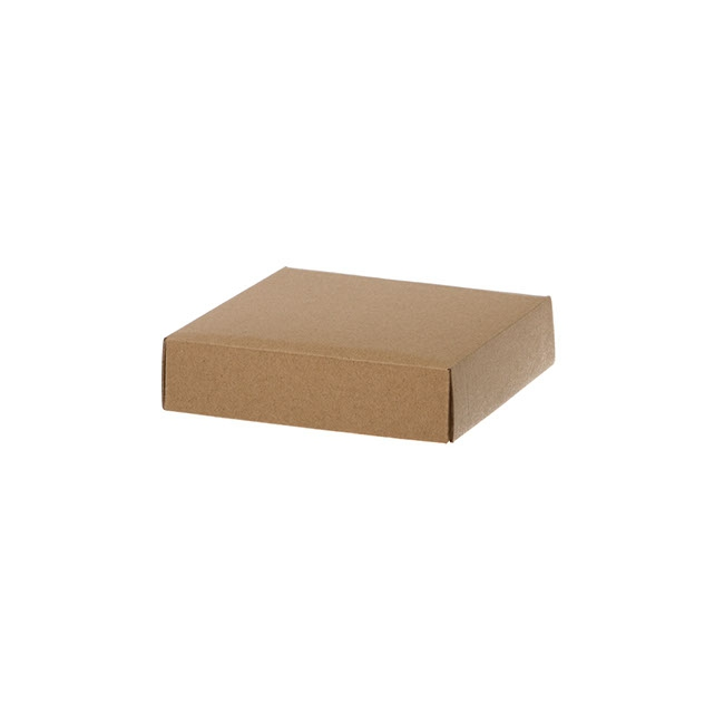 Gift Box and Lid - Posy Lid Mini Matt Kraft (14x14x3.5cmH)