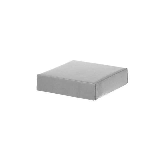 Gift Box and Lid - Posy Lid Mini Gloss Silver (14x14x3.5cmH)