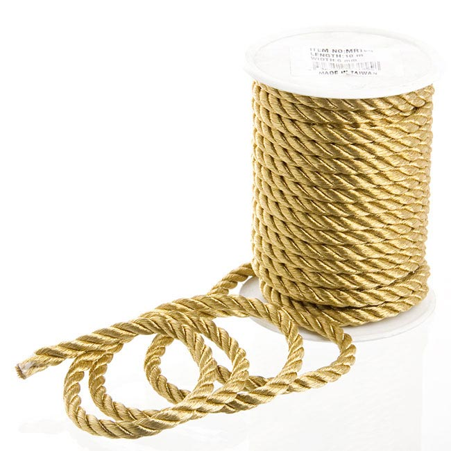 Metallic Rope Gold (6mmx10m)