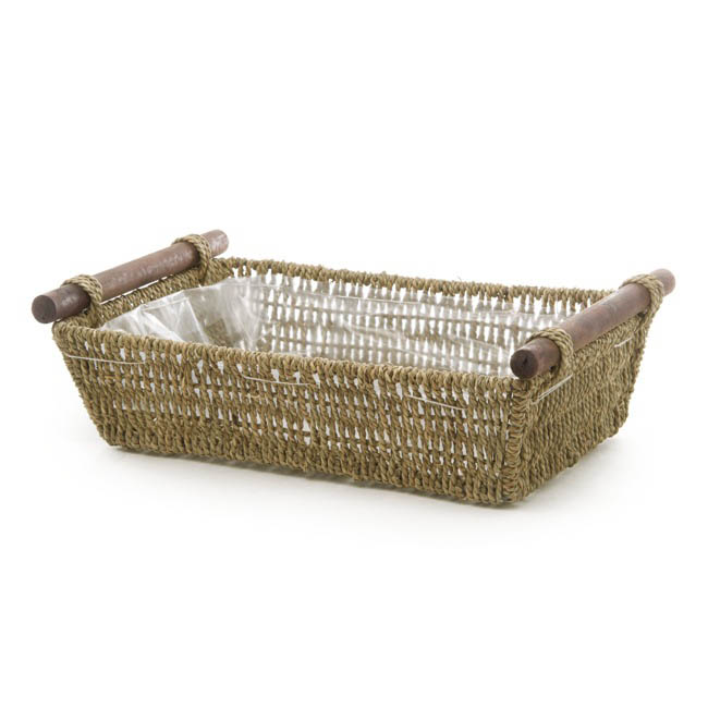 Seagrass Tray Rectangle Medium Natural (38x28x10cmH)