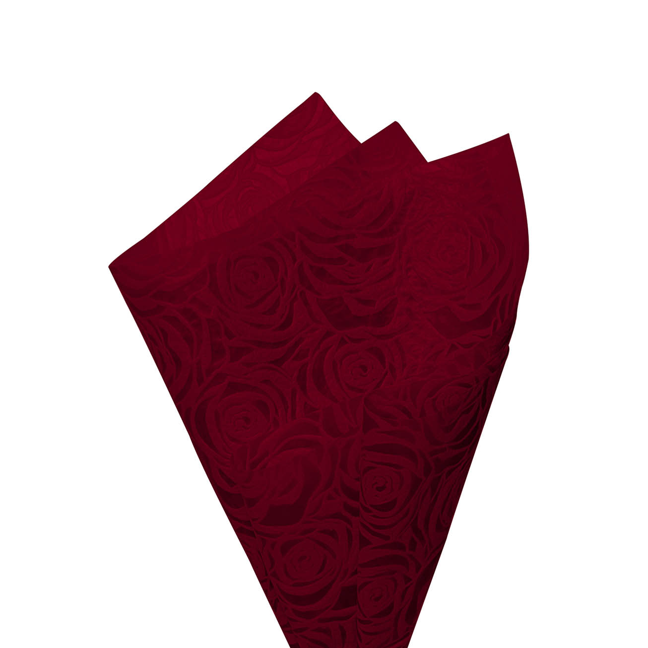 Printed Nonwoven Design - Nonwoven Wrap Floral 80gsm Deep Red (50x70cm) Pack 50