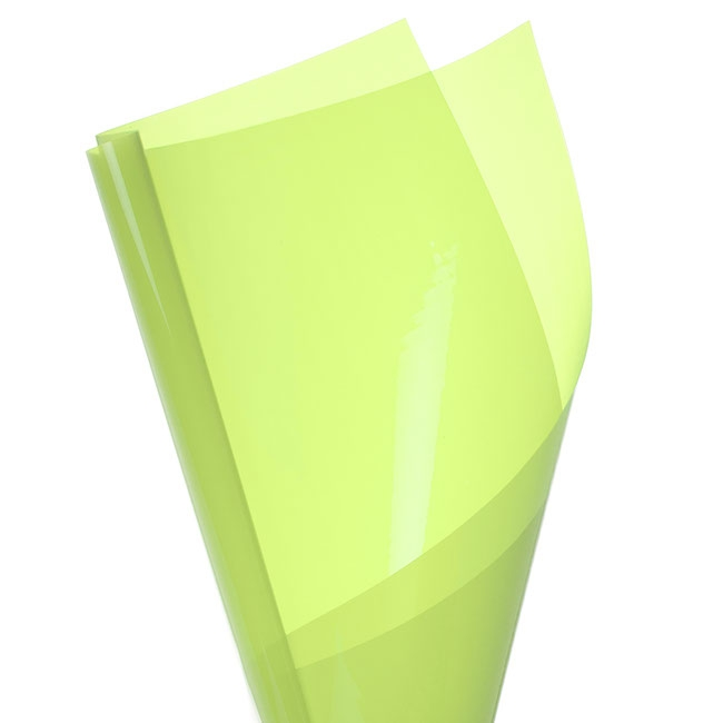 Coloured Cellophane 40 micron Mint PK150 (50x70cm)