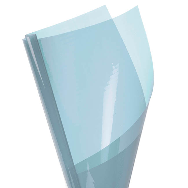 Coloured Cellophane 40 micron Baby Blue 150 Pack (50x70cm)