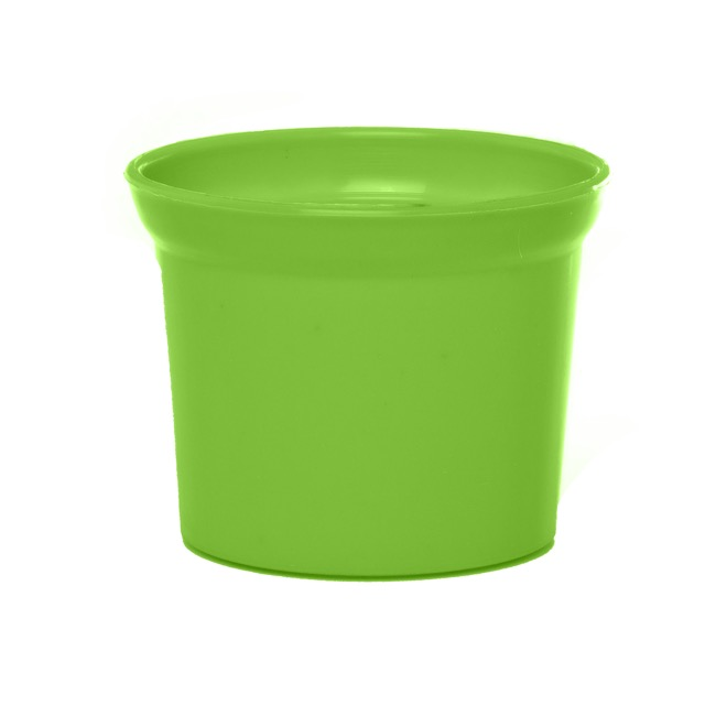 Plastic Flower Pots - Plastic Pot Mini 10Dx8cmH Lime