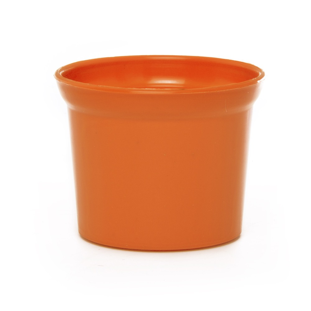 Plastic Pot Mini 10Dx8cmH Orange