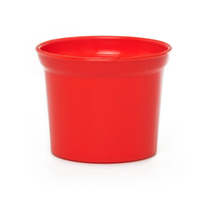 Plastic Flower Pots - Plastic Pot Mini 10Dx8cmH Red