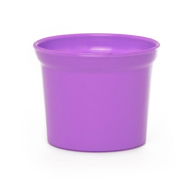 Plastic Pot Mini 10Dx8cmH Violet