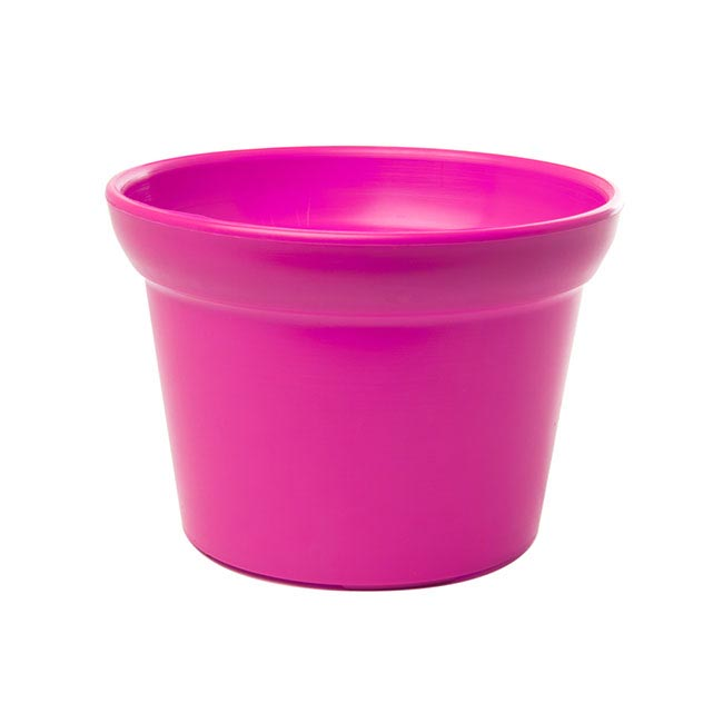 Plastic Flower Pots - Plastic Pot Large Hot Pink (17Dx12cmH)
