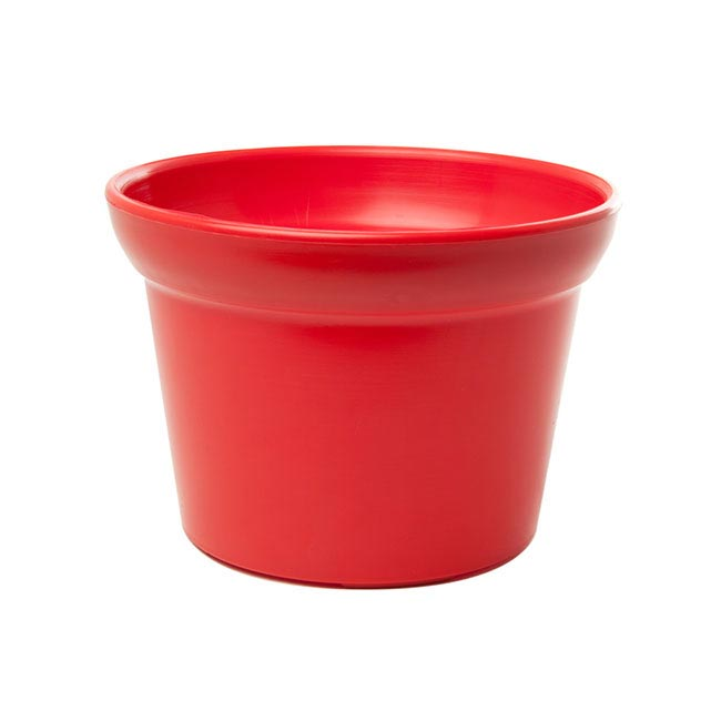 Plastic Pot 17Dx12cmH Red