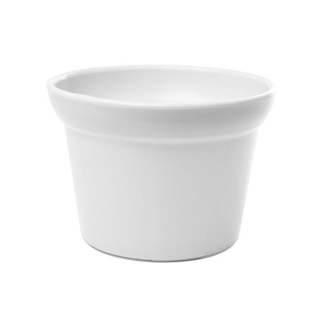 Plastic Pot Large White 17dx12cmh
