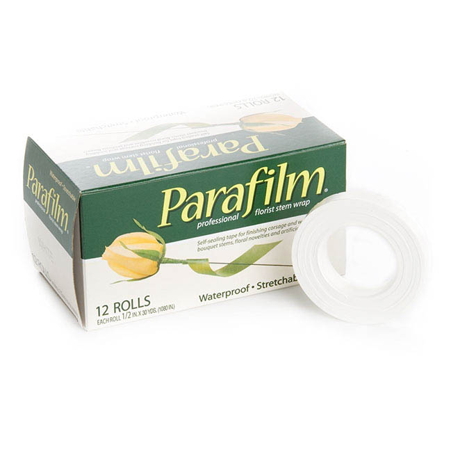 Floral Tape - Parafilm White Single Roll 12.5mm x 27m (30 Yards)
