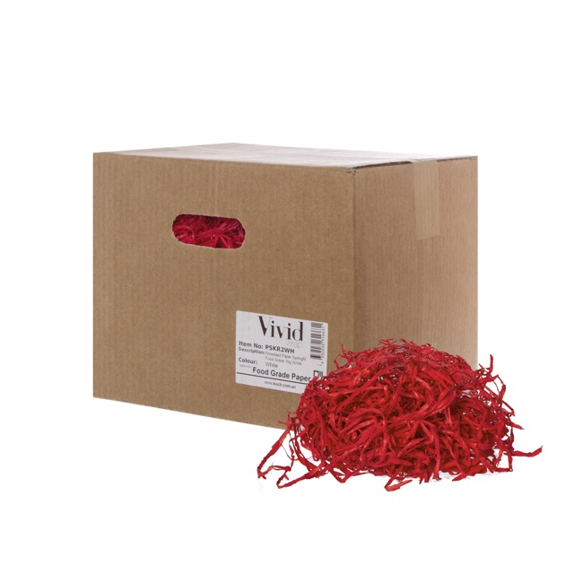 Shredded Paper - Shredded Paper Food Grade Red 1kg Box