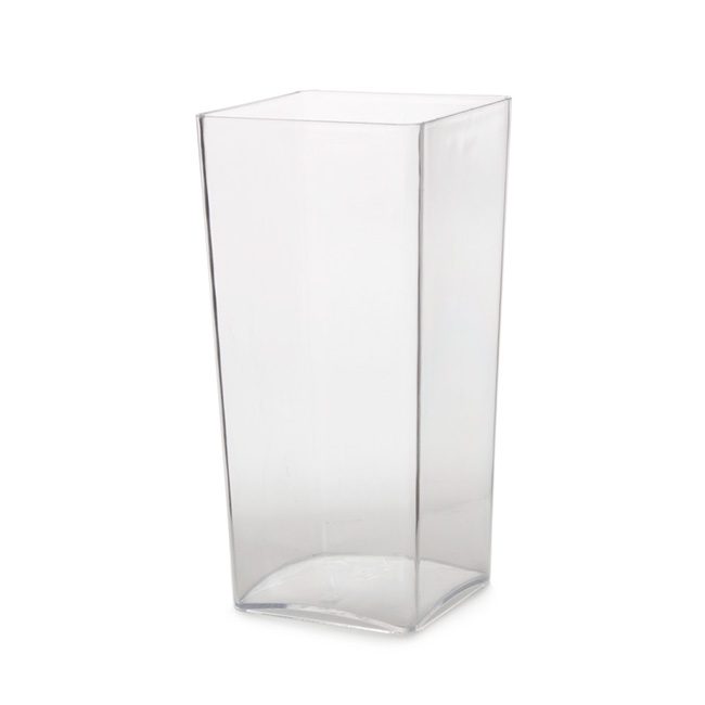 Polyvase Acrylic Square Tank Vase 13x13x25cmh Clear