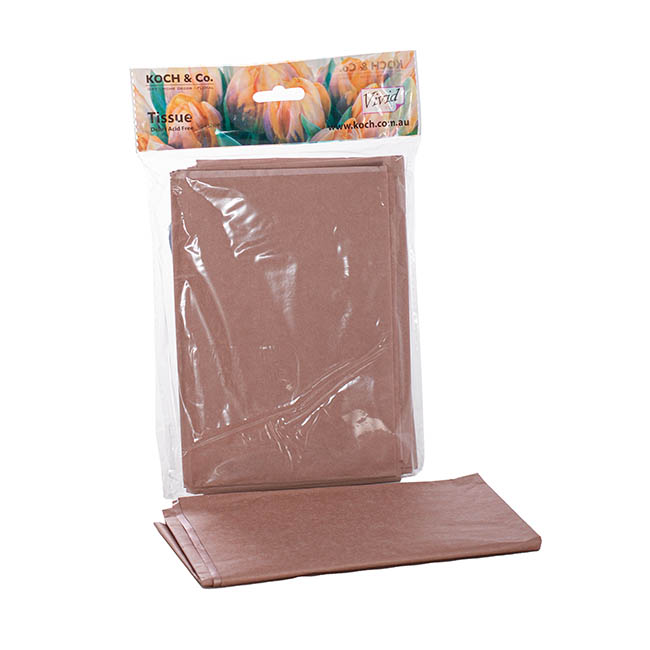 Tissue Paper - Tissue Paper Metallic Rose Gold 17gsm (50x73cm) Pack 24