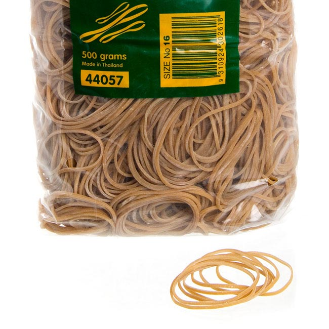 Rubber Bands Bag 500g Size 16 (63x1.5mm)