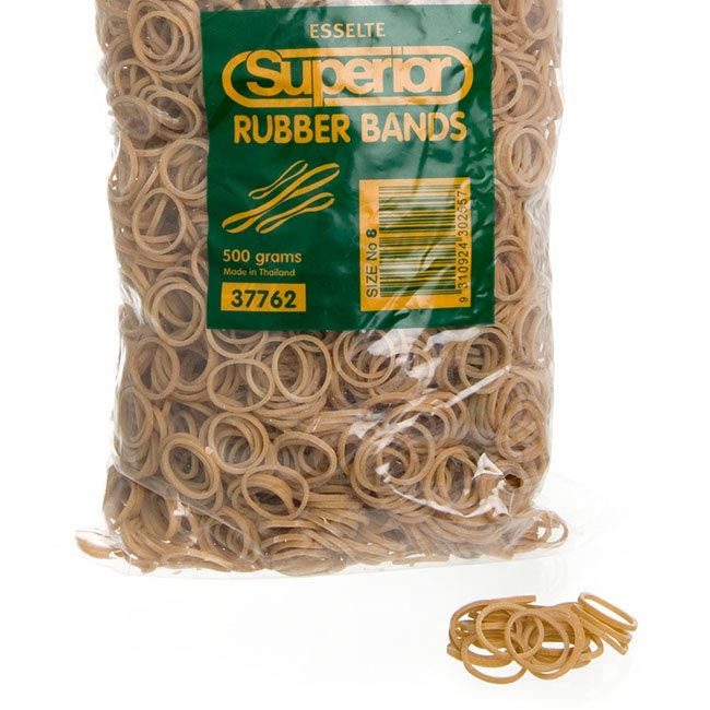 Rubber Bands Bag 500g Size 8 (22x1.5mm)