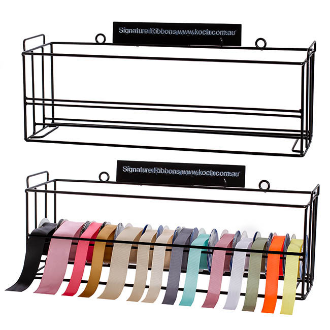 Ribbon Stand & Rack - Ribbon Stand Stackable 62x18x23cmH Black