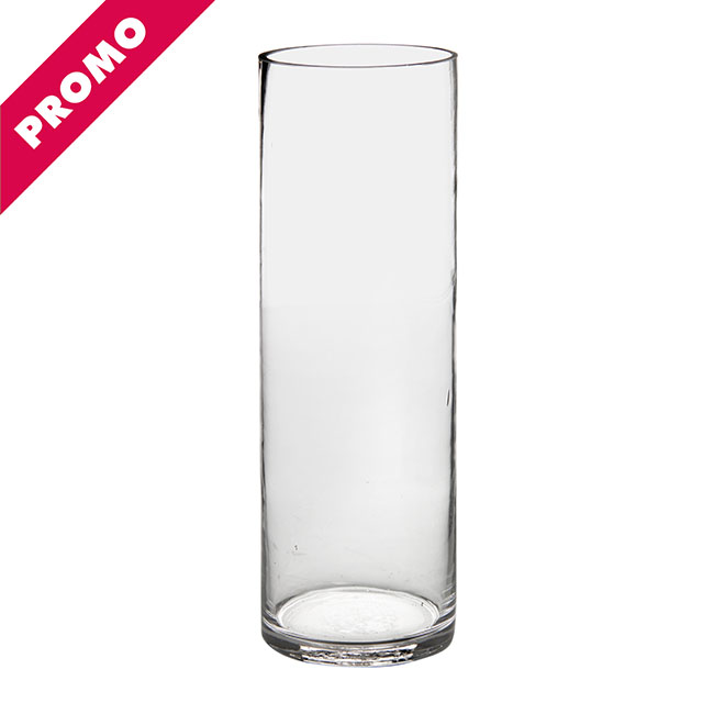 Cylinder & Conical Vases - Glass Promo Cylinder Vase 10Dx30cmH Clear