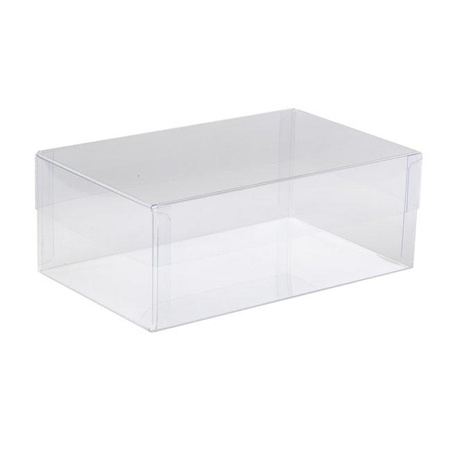 Acetate Corsage Bomboniere Box - Cello Corsage Box Rectangle Single Clear (8x13.5x5cmH)