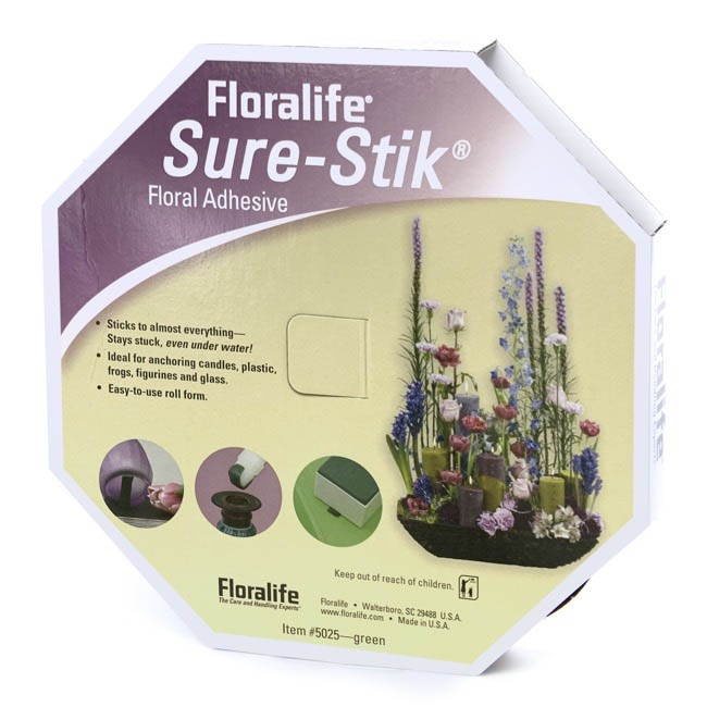 Florist Clay & SureStick - Floralife Sure-Stik Adhesive Florist Clay Green (7.6m roll)