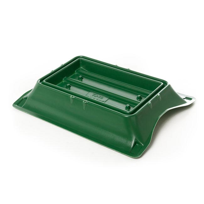 Floral Trays & Sympathy - Plastic Casket Saddle for Single Brick Medium